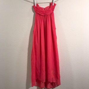 H&M | pink chiffon sundress size 2